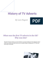 History of Tv Adverts