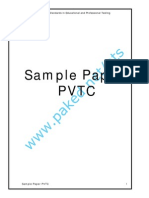 Sample Paper PVTC
