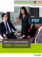 2012 Transport Canada - Internal Comms Manager's Toolkit