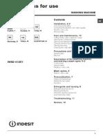 Manual Masina Spalat INDESIT IWSD61251