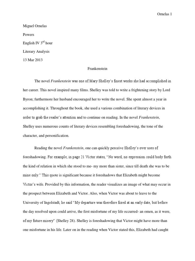 Intro to frankenstein essay professional thesis statement ghostwriter services usa