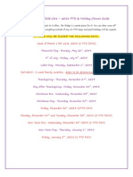 2014 pto  holiday closure guide
