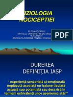 Fiziologia Nociceptiei - Elena Copaciu