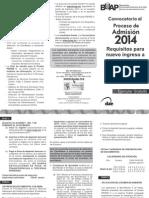 Convocatoria de Ingreso a la BUAP 2014 nivel Bachillerato 5 de Mayo