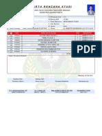 Kartu Rencana Studi Semester VI