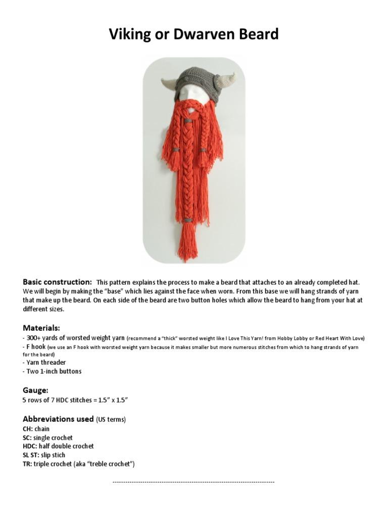 BARBA VIKINGO.pdf | Crochet | Braid