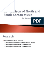 comparison of north and south korean music 1