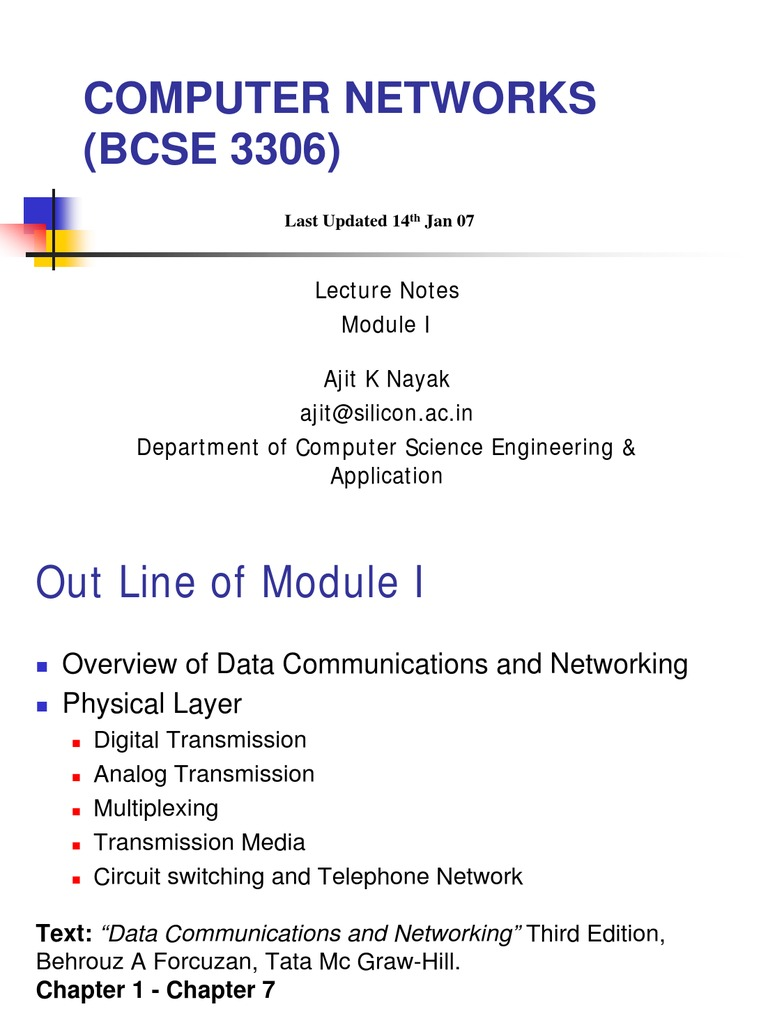 Computer Network Module 1 Modulation Topology Voice Data Combination With Ethernet Switch