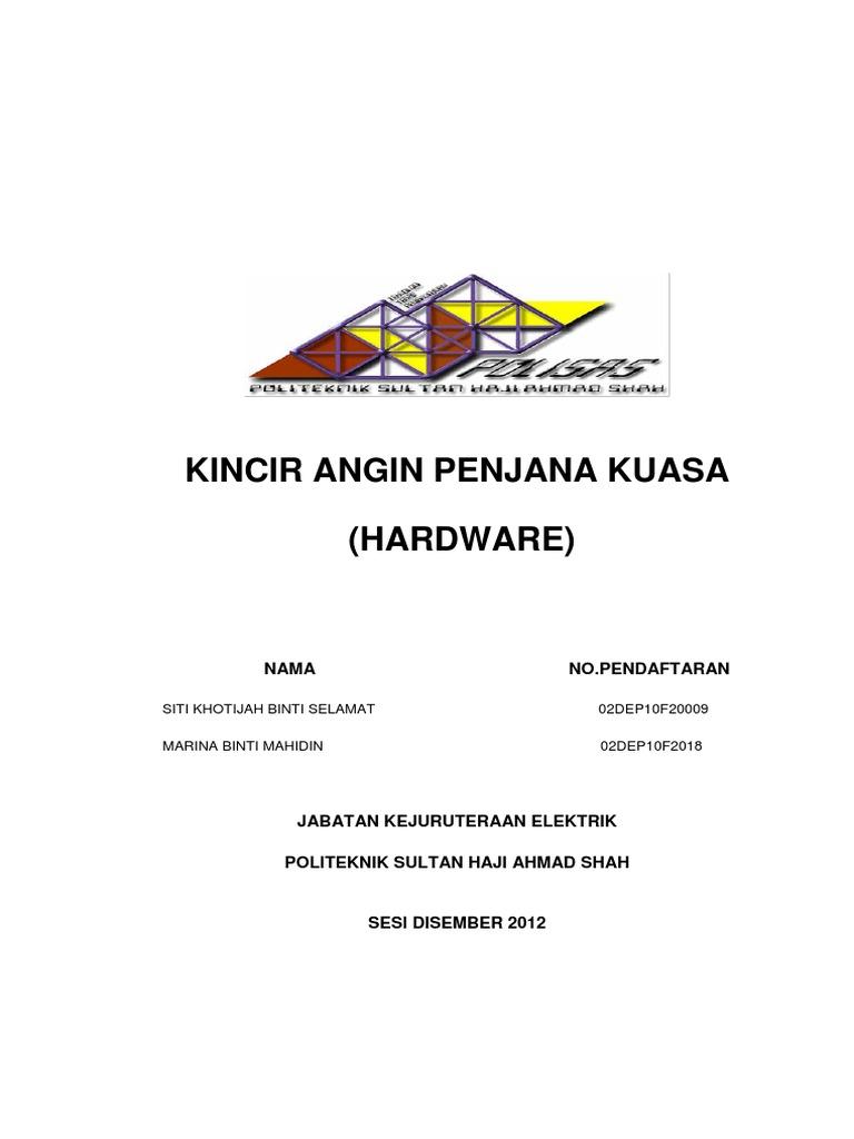 Contoh Report Fyp Politeknik Kejuruteraan Mekanikal