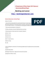 Allahabad Bank PO Sample Paper 3
