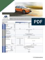 Ficha Técnica Subaru XV