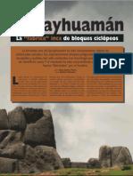 Sacsayhuamán. Fábrica de bloques ciclópeos