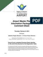 Waterloo Region International Airport Master Plan Info Package Feb 6 2014