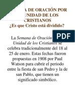SEMANA DE ORACIÓN POR LA UNIDAD DE LOS CRISTIANOS.docx
