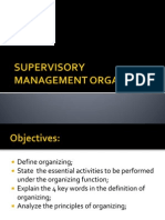 Supervisory Management Organizing