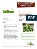 Sowing Seed into Pots or Trays - Teacher + Student Guide