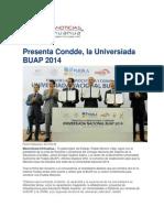 06-02-2014 Mas Noticias - Presenta Condde, la Universiada BUAP 2014.pdf