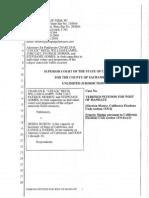 Reed v. Bowen Writ Petition