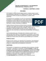 LA CRIMINALIDAD EN LA PSICOPATÍA Y LAS PARANOIAS DIFERENCIAS EN EL PASAJE AL ACTO.docx