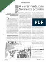 A caminhada dos movimentos populares