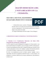 TRANSFORMACION DEMOCRATICA DEL ESTADO
