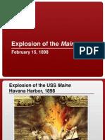 Maine Explosion Lesson