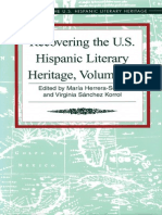 Recovering the US Hispanic Literary Heritage, Vol III edited by Maria Herrera-Sobek