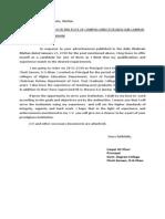 Application of Liaqat Sb