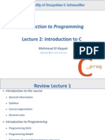 Lecture 2 Introduction to Programming Ws2013