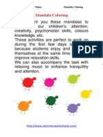 Mandala Coloring Activities PDF