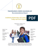 Superintendent's Initial Assessment and Recommendations Report