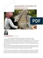 Report  Development bank's Cambodia rail project left thousands in poverty