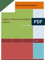 SARHUA TIERRA DE MONTAÑAS Y COLORES
