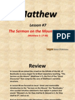 7. the Sermon on the Mount, Part 2