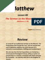 8. the Sermon on the Mount, Part 3