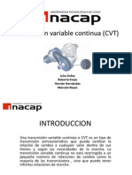 Transmisión variable continua (CVT)