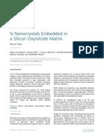 Si Nanocrystals Embedded in a Silicon Oxynitride Matrix