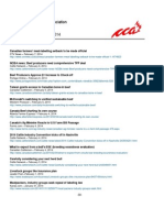 CCA Headlines Feb. 3 - 7, 2014