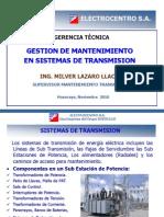Gestión de Mantenimiento en Sistemas de Transmsión vf
