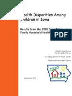 Health Disparities Among Children in Iowa