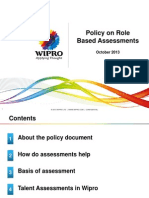 Policy on Role Based Assessment