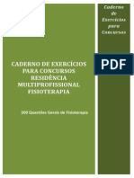 CADERNO DE EXERCÍCIOS RESIDÊNCIA MULTIPROFISSIONAL FISIOTERAPIA