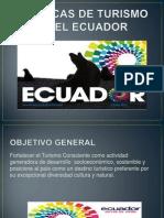 Politicas de Turismo en El Ecuador