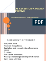 Global Recession-A Macro Perspective