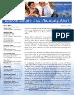 Illinois Estate Tax Planning Tax Alert October 2009