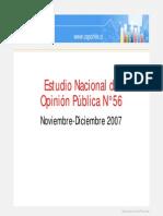 Encuesta CEP Nov Dic 2007