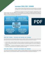 La Familia de Normas ISO-IEC 25000