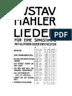 Mahler - Ich Bin Der Welt Abhanden Gekommen