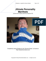 The Ultimate Personality Manifesto