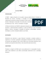 Politica Patrocinio FINEP2013